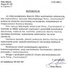 Referencje - Trzcinodach